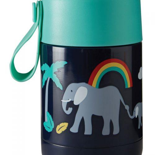 Lunchbox Yummy Elefant von Frugi in blau aus Edelstahl