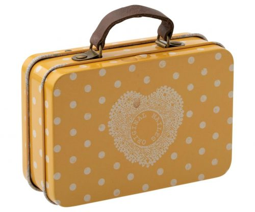 Maileg Mini Koffer gelb aus Metall - z. B. als Geschenkverpackung