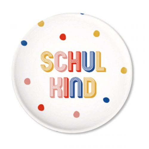 Button mit bunten Punkten – Schulkind von ava & yves