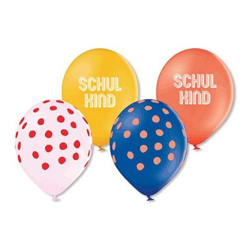 ava&yves Luftballon-Set Schulkind in rot-gelb-weiß-blau