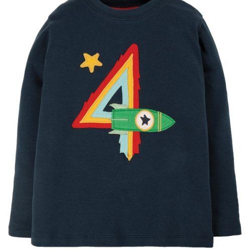 Frugi Langarm-Shirt Magische Zahl 4