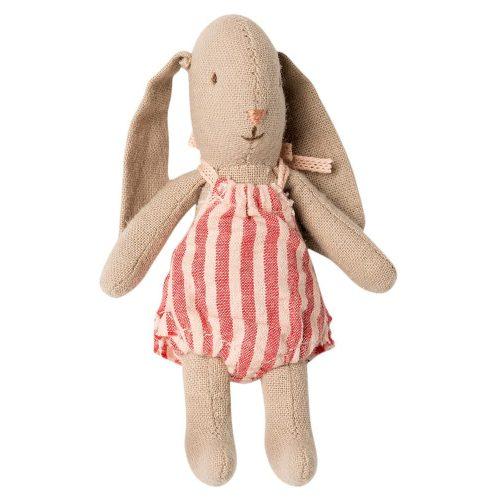 Maileg Hase Bunny micro mit weiß-roten Spielanzug