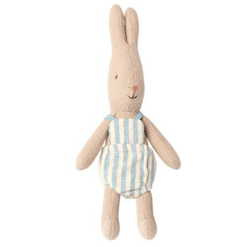 Maileg Hase Rabbit micro mit weiß-blauen Spielanzug