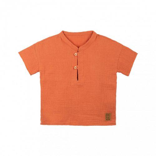 Kurzarm-Shirt in papaya von pure-pure by Bauer für Minis