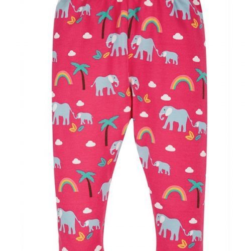 Frugi Libby Leggings Elefant in pink (Rainbow Walks)