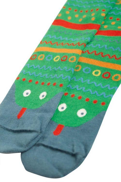 Frugi Socken Schlange grün aus 100% Bio-Baumwolle