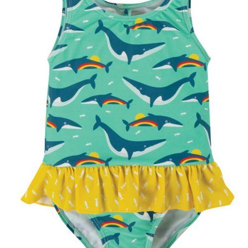 Frugi Badeanzug Regenbogen Wale