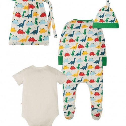 Frugi Baby-Geschenkset Rainbow Dinos