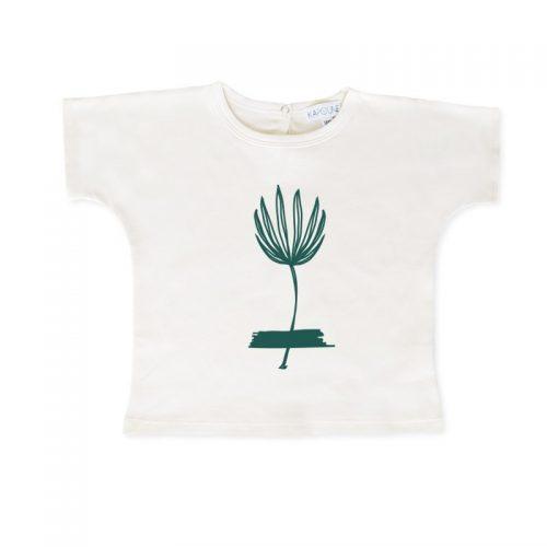 T-Shirt Pfingsrose in Tanne von Kapoune