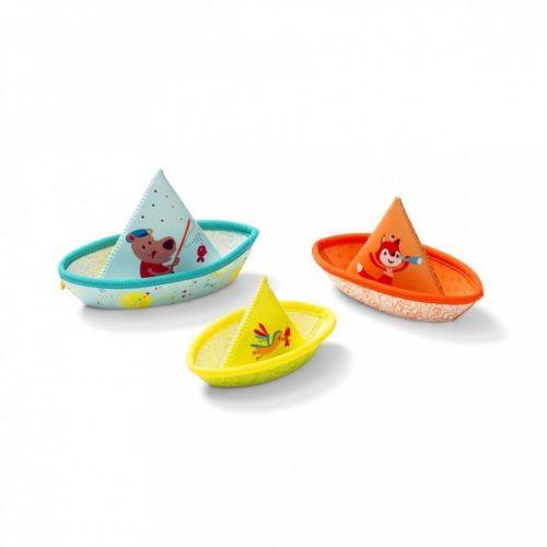 Badespielzeug 3 kleine Boote César und Freunde von Lilliputiens