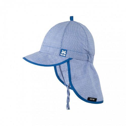 Babymütze nautic blue mit UV- und Nackenschutz von pure-pure by Bauer