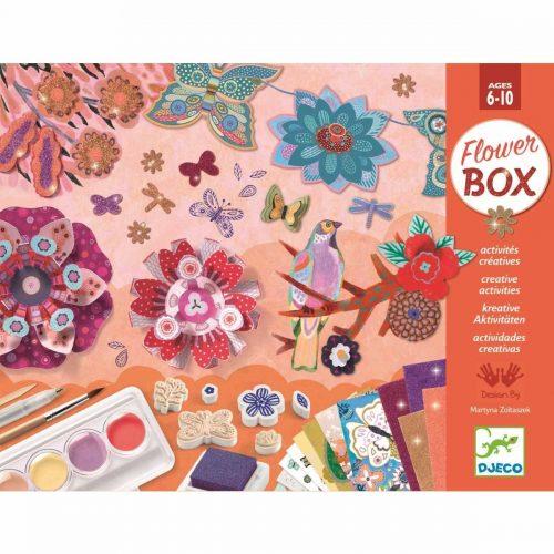 Djeco Flower-Box - Blumengarten - Bastel-Set ab 6 - 10 Jahre