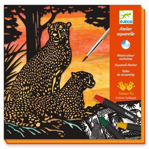 Djeco Aquarell-Atelier Dschungel-Tiere
