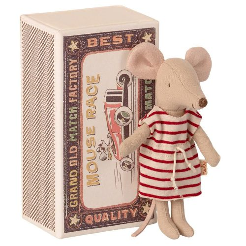 Maileg Grosse Schwester Maus in Schachtel inkl. Bettzeug
