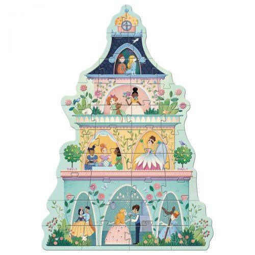 Djeco Bodenpuzzle Prinzessinnenturm für Kinder ab 3 Jahre