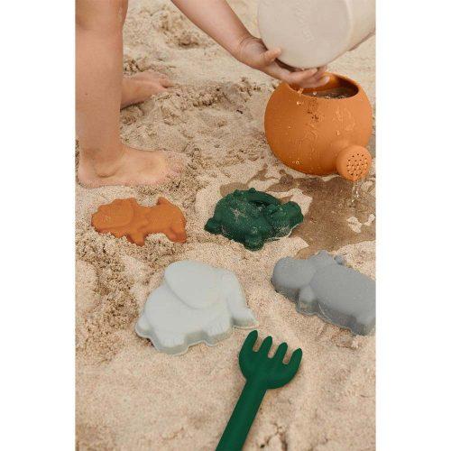 Liewood Sandspielzeug Jungle Set: Eimer, Schaufel und 4 Förmchen, Safari