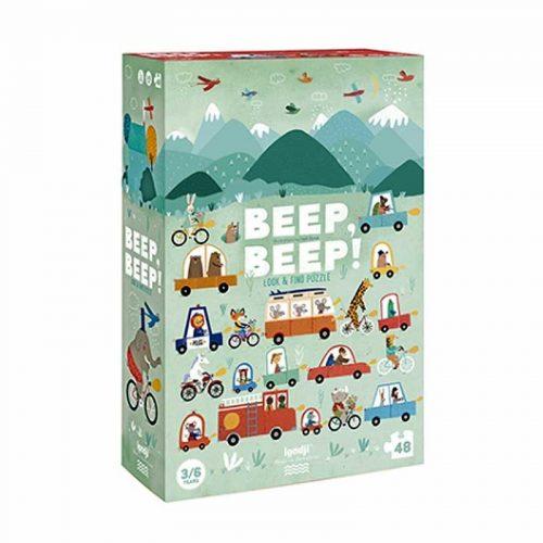 Londji Puzzle: Beep, beep! für Kinder ab 3-6 Jahre