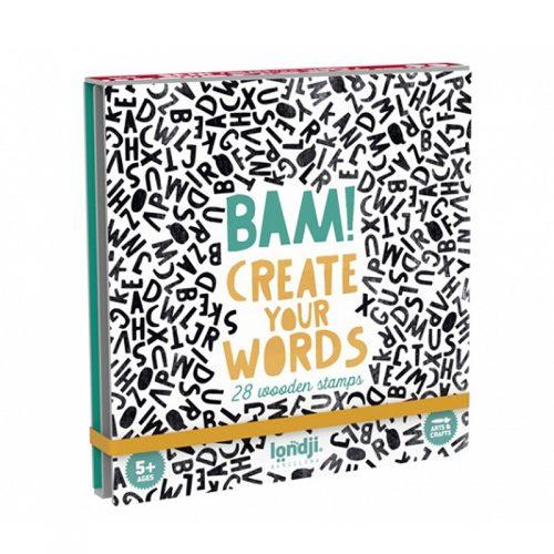 Londji Stempel ABC Lernspiel - BAM! Words für Kinder ab 5 Jahre