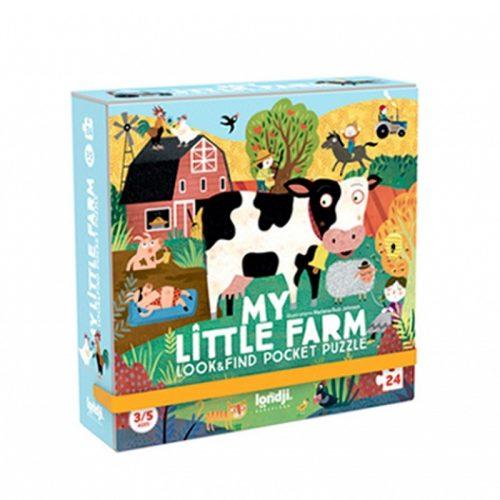Londji Puzzle im Taschenformat: My Little Farm für Kinder ab 3 Jahre