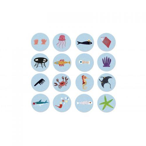 Londji Puzzle im Taschenformat: My Little Ocean für Kinder ab 3 Jahre