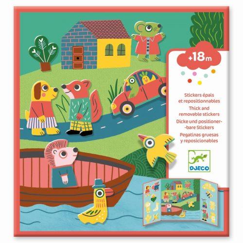 Djeco Sticker Tiere - In der Stadt - stickern für Kinder ab 18 Monate