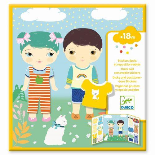 Djeco Sticker Kleidung - Puppen anziehen ab 18 Monate