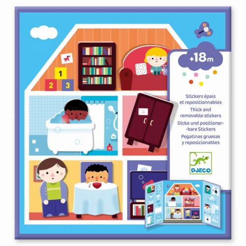 Djeco Haus - Einrichtungen mit Stickern ohne Ende ab 18 Monate