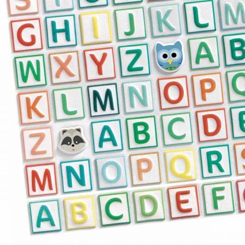 Djeco 3D Sticker Buchstaben - 300 Sticker in einer Packung
