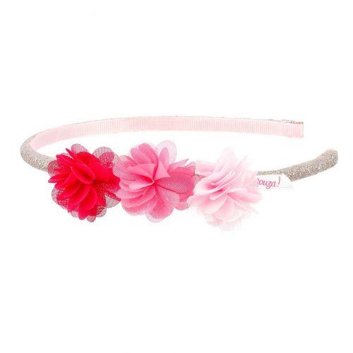 Haarreif Leyda mit Blüten pink-rosa von Souza!