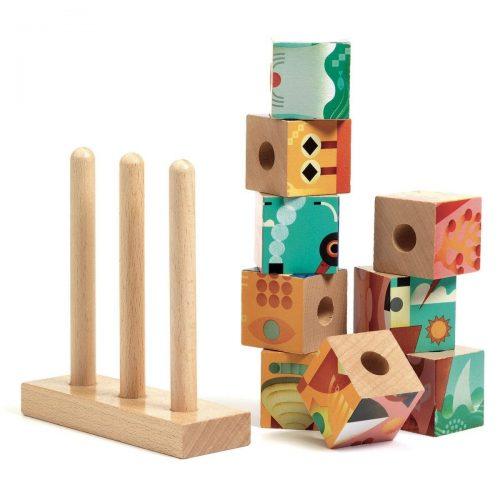 Djeco Holzpuzzle Puzz-up Meer mit 4 Motiven ab 3 Jahren