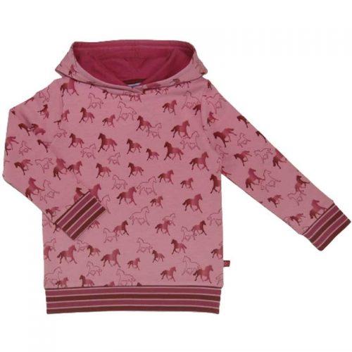 Enfant Terrible Hoodie Pferde in rosa-pink - Kapuzenpullover