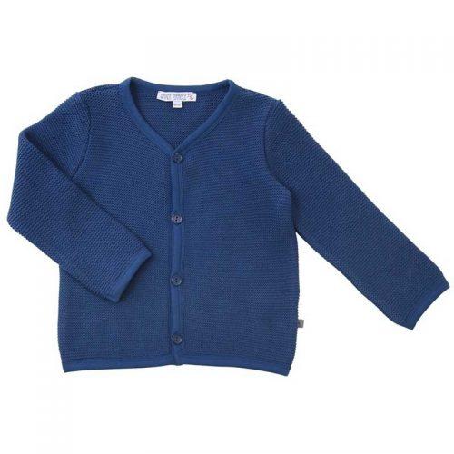 Enfant Terrible - Strickjacke im Trachtenstil in tintenblau, Biobaumwolle