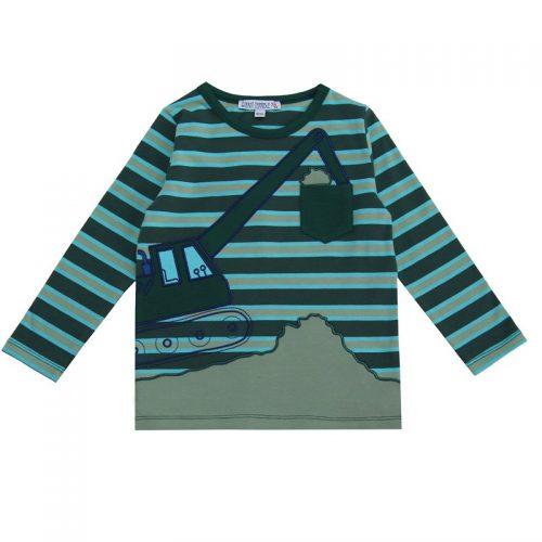 EnfantTerrible LangarmShirt Bagger tanne-türkis aus Bio Baumwolle