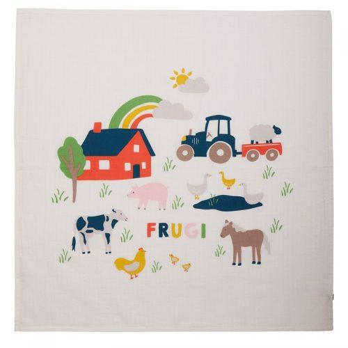 Frugi Mulltuch-Set Bauernhof-Freunde 100% Bio-Baumwolle GOTS