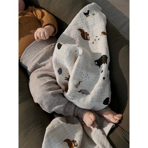 Liewood Mulltuch-2er-Set Lewis Friendship aus 100% Bio-Baumwolle