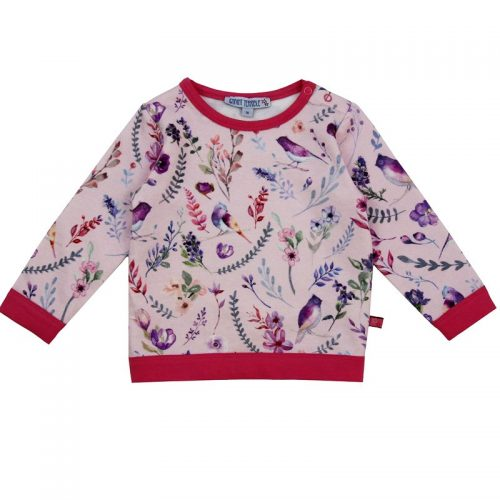 Enfant Terrible Baby-Sweatshirt mit Blumendruck in hellrose-soft-pink