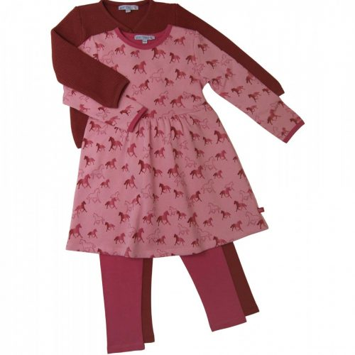 Enfant Terrible Sweatkleid Pferde - wunderschönder Druck in rosa-pink