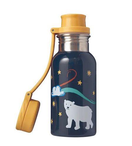 Trinkflasche Splish Splash Indigo/Polar Bear von Frugi 400 ml Eisbär