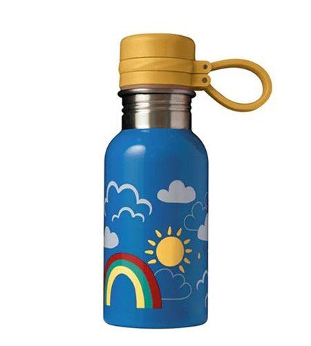 Trinkflasche Splish Splash Rainbow Skies von Frugi 400 ml
