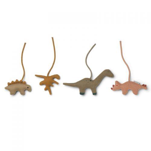 Liewood Gio Dino Figuren für Spielebogen golden caramel/multi mix