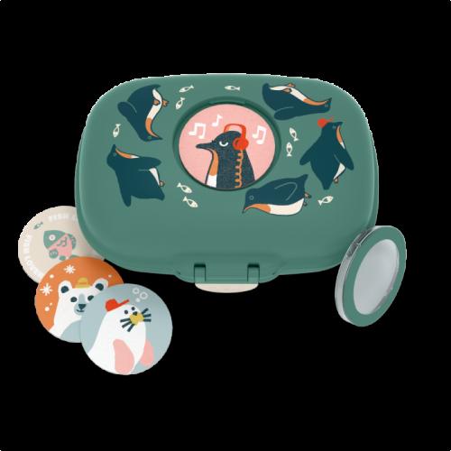 monbento MB Gram Snackbox Pinguin grün - limitierte Auflage