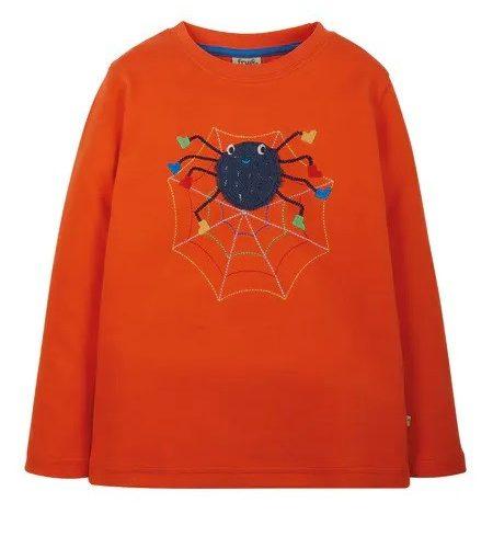 Frugi Langarm-Shirt Spinne orange